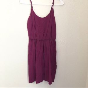 Women's Maroon Sleeveless dress small old navy.
